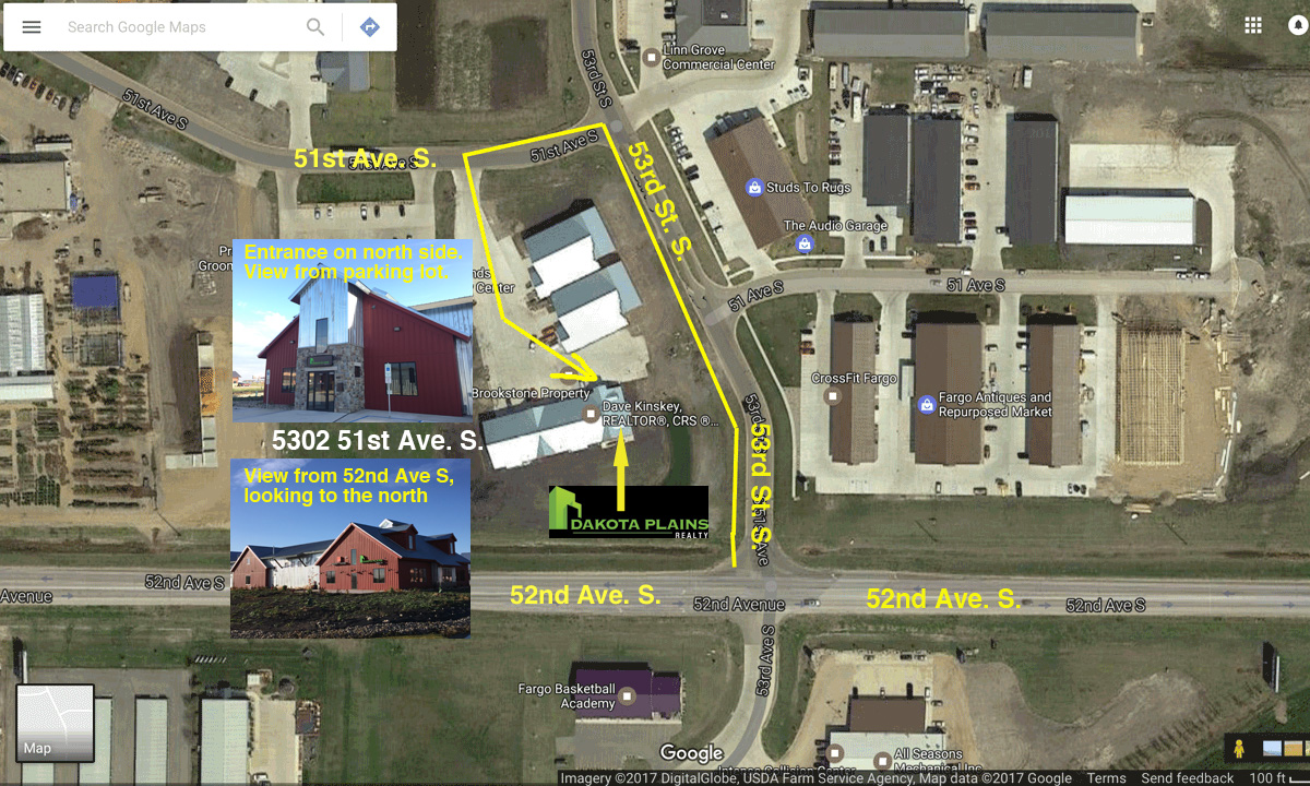 Satellite map of Dakota Plains Realty location